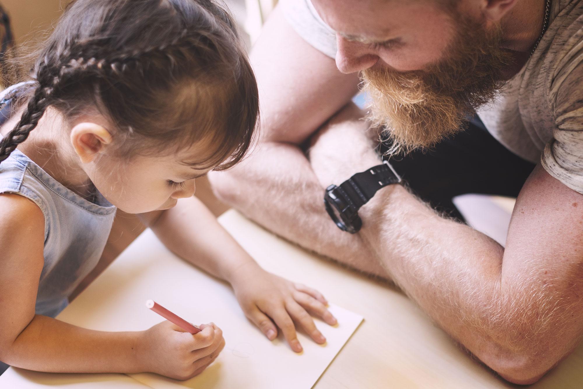 dad-daughter-homework
